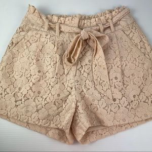 H&M Size 8 Lace Apricot Pocket Shorts with Tie